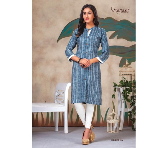 Women Printed Straight Kurti Natasa