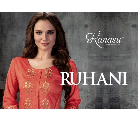 Woman Lining Rayon Straight With Work Kurti Ruhani