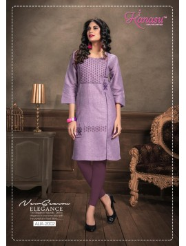 Women Cotton Straight Work Kurta Alia