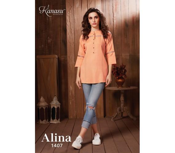 Casual Regular Sleeve Solid Short Top Women Alina