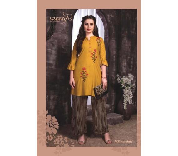 Women Kurta and Palazzo Set Pure Reyon Nikhar