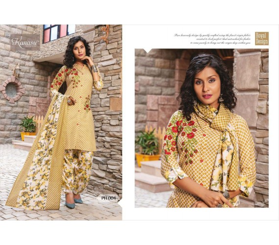 Woman Camric Print Top With Patiyala & Dupatta Kurta Patiyala House