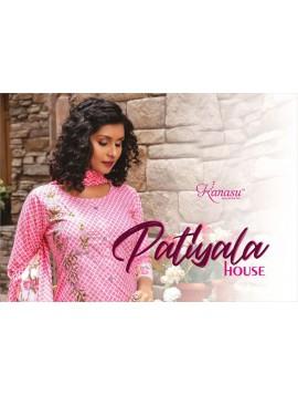 Woman Camric Print Top With Patiyala & Dupatta Kurta Patiyala House