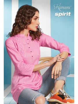 Woman Short Top With Stiching Flex Reyon Kurti Spirit