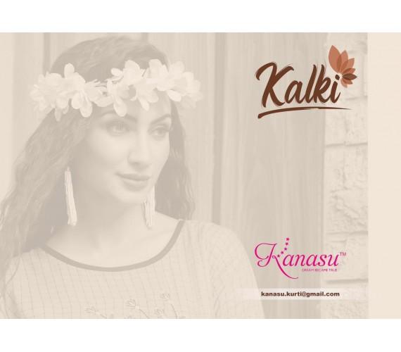 Women Kurta and Palazzo Set Rayon Chex & Work Pattern Kalki